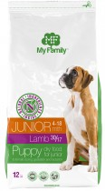 Сухой корм с ягненком для щенков My Family™ Junior, 12 кг