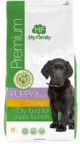 Сухой корм с курицей для щенков My Family™ Premium Puppy, 12 кг