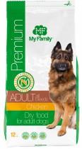 Сухой корм с курицей для взрослых собак всех пород My Family™ Premium Adult, 12 кг