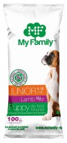Сухой корм с ягненком для щенков My Family™ Junior, 10 шт по 100 гр