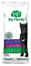 Сухой корм с ягненком для взрослых собак больших пород My Family™ Large Adult, 10 шт по 100 гр