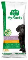 Сухой корм с курицей для щенков My Family™ Premium Puppy, 10 шт по 100 гр