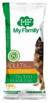 Сухой корм с курицей для взрослых собак всех пород My Family™ Premium Adult, 10 шт по 100 гр