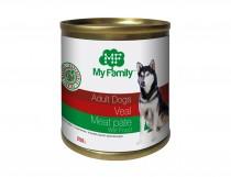 Мясной паштет с телятиной для взрослых собак, My Family™, 250 гр