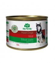 Мясной паштет с телятиной для взрослых собак, My Family™, 525 гр