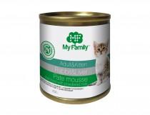 Паштет-мусс с кроликом и печенью для взрослых котов и котят, My Family™, 250 гр