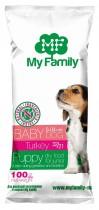 Сухой корм с индейкой для щенков, беременных и лактирующих собак My Family™ Babydog, 10 шт по 100 гр