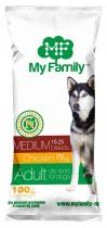 Сухой корм с курицей для взрослых собак средних пород My Family™ Medium Adult, 10 шт по 100 гр