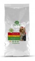 Сухой корм с курицей для взрослых собак маленьких пород My Family™ Mini Adult, 10 кг