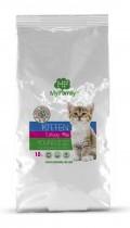 Сухой корм с индейкой для котят, беременных и лактирующих кошек My Family™ Kitten, 10 кг