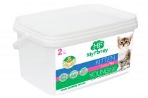 Сухой корм с индейкой для котят, беременных и лактирующих кошек My Family™ Kitten, 2 кг