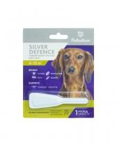 Капли на холку от блох, клещей и комаров Palladium Silver Defence для собак весом 4-10 кг