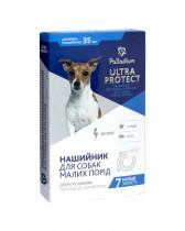 Ошейник от блох и клещей Palladium Ultra Protect для собак мелких пород (35 см, белый)
