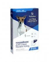 Ошейник от блох и клещей Palladium Ultra Protect для собак мелких пород (35 см, синий)