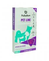Капли на холку Pet Line №1 от блох и клещей для собак весом 1,5-4 кг (3 пипетки)