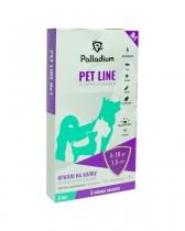 Капли на холку Pet Line №1 от блох и клещей для собак весом 4-10 кг (3 пипетки)