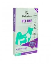 Капли на холку Pet Line №1 от блох и клещей для собак весом 20-30 кг (3 пипетки)