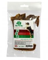 Чипсы из сушёного говяжьего вымени для тренировки собак (50 г)