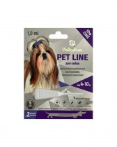 Капли на холку от блох, клещей и гельминтов Pet Line the ONE для собак весом 4-10 кг