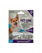 Капли на холку от блох, клещей и гельминтов Palladium Pet Line the ONE для собак весом 10-20 кг