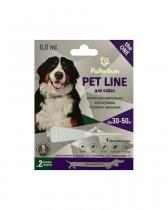 Капли на холку от блох, клещей и гельминтов Palladium Pet Line the ONE для собак весом 30-50 кг