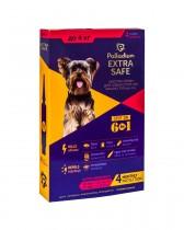 Капли на холку от блох, клещей и гельминтов Palladium Extra Safe для собак весом до 4 кг (4 пипетки)