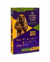Капли на холку от блох, клещей и гельминтов Palladium Extra Safe для собак весом 4-10 кг (4 пипетки)