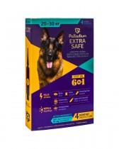 Капли на холку от блох, клещей и гельминтов Palladium Extra Safe для собак весом 20-30 кг (4 пипетки)