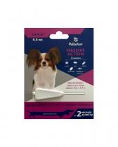 Капли на холку от блох и клещей Palladium Massive Action для собак весом 1,5-4 кг