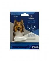 Капли на холку от блох и клещей Palladium Massive Action для собак весом 4-10 кг