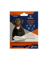 Капли на холку от блох и клещей Palladium Massive Action для собак весом 25-40 кг