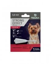 Капли на холку от блох, клещей и комаров Palladium Strong Effect для собак весом 1,5-4 кг