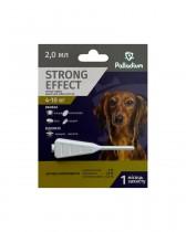 Капли на холку от блох, клещей и комаров Palladium Strong Effect для собак весом 4-10 кг