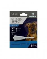Капли на холку от блох, клещей и комаров Palladium Strong Effect для собак весом 10-20 кг