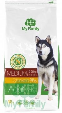 My Family Сухой корм с курицей для взрослых собак средних пород My Family™ Medium Adult, 12 кг