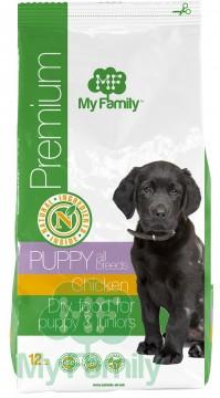My Family Сухой корм с курицей для щенков My Family™ Premium Puppy, 12 кг