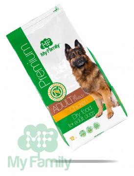 My Family Сухой корм с курицей для взрослых собак всех пород My Family™ Premium Adult, 12 кг