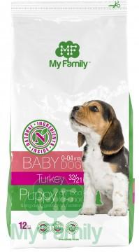 My Family Сухой корм с индейкой для щенков, беременных и лактирующих собак My Family™ Babydog, 12 кг
