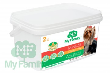 My Family Сухой корм с курицей для взрослых собак маленьких пород My Family™ Mini Adult, 2 кг