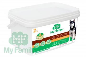 My Family Сухой корм с курицей для взрослых собак средних пород My Family™ Medium Adult, 2 кг