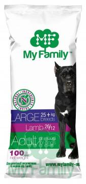 My Family Сухой корм с ягненком для взрослых собак больших пород My Family™ Large Adult, 10 шт по 100 гр
