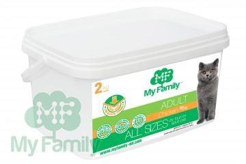 My Family Сухой корм с курицей для взрослых котов всех пород My Family™ Adult Cat, 2 кг