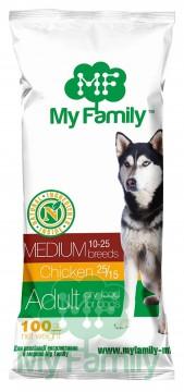 My Family Сухой корм с курицей для взрослых собак средних пород My Family™ Medium Adult, 10 шт по 100 гр