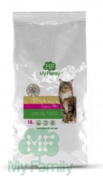My Family Сухой корм с индейкой для стерилизованных котов всех пород My Family™ Sterilized, 10 кг