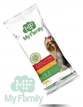 My Family Сухой корм с курицей для взрослых собак маленьких пород My Family™ Mini Adult, 10 шт по 100 гр