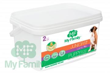 My Family Сухой корм с ягненком для щенков My Family™ Junior, 2 кг