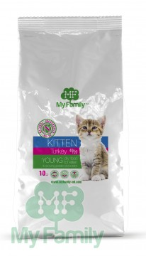 My Family Сухой корм с индейкой для котят, беременных и лактирующих кошек My Family™ Kitten, 10 кг