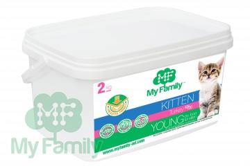 My Family Сухой корм с индейкой для котят, беременных и лактирующих кошек My Family™ Kitten, 2 кг