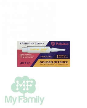 Капли на холку Palladium Golden Defence для собак весом до 4 кг