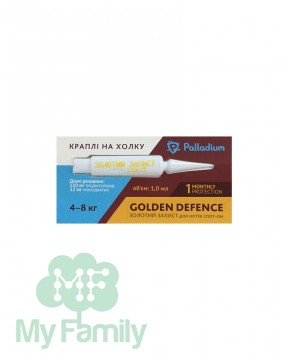 Капли на холку Palladium Golden Defence для кошек весом 4-8 кг